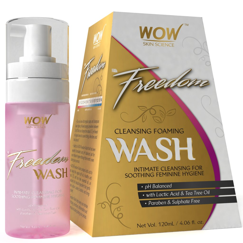 Wow Freedom Cleansing Foam Wash, Lactic Acid & Tea Tree Oil