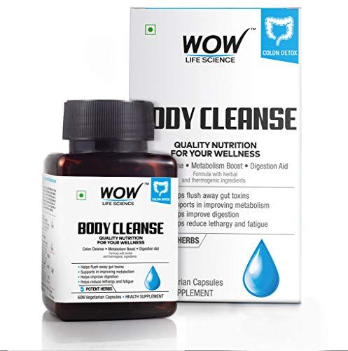 Wow Body Cleanse 750Mg, 60 Veg Capsules