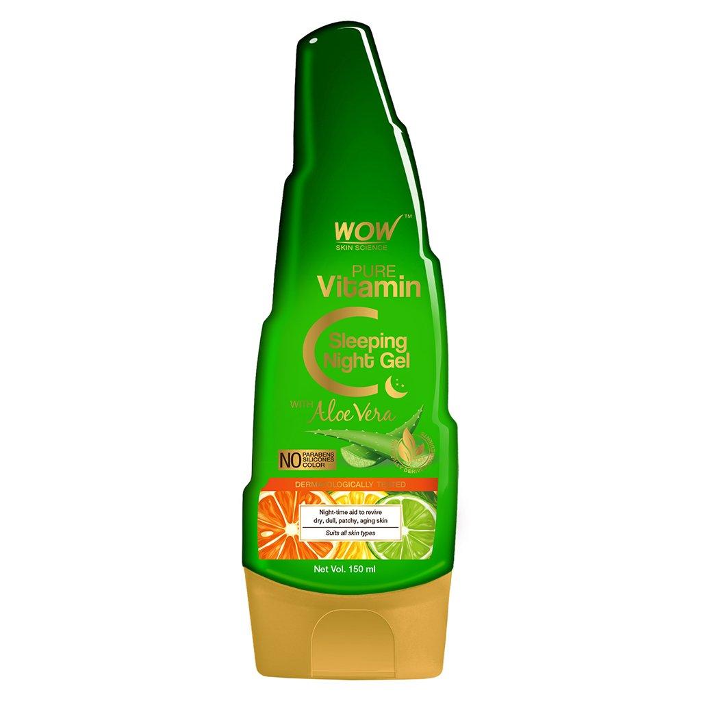 Wow Pure Vitamin C Sleeping Night Gel with Aloe Vera