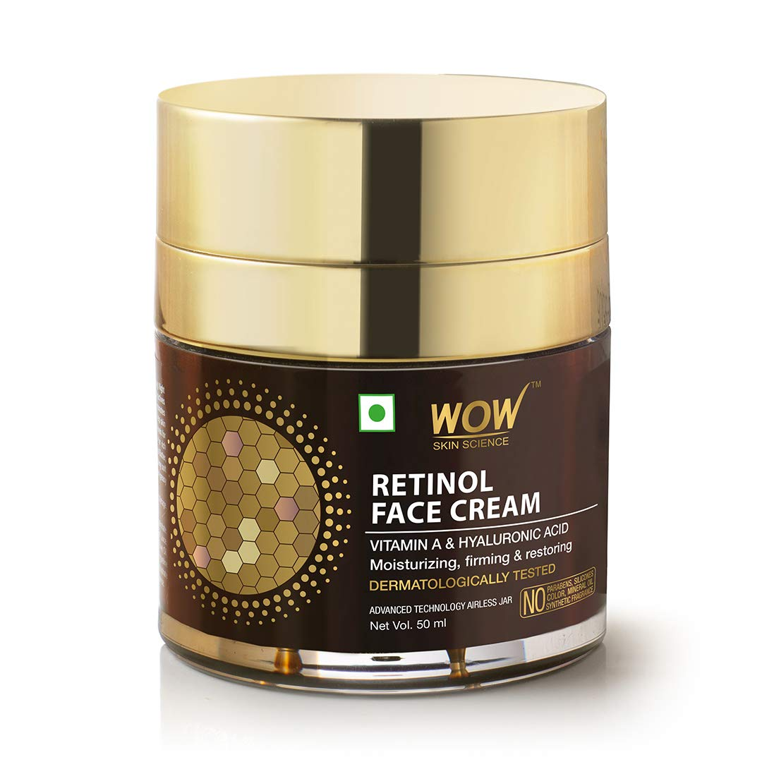 Wow Retinol Face Cream, Oil Free, Quick Absorbing