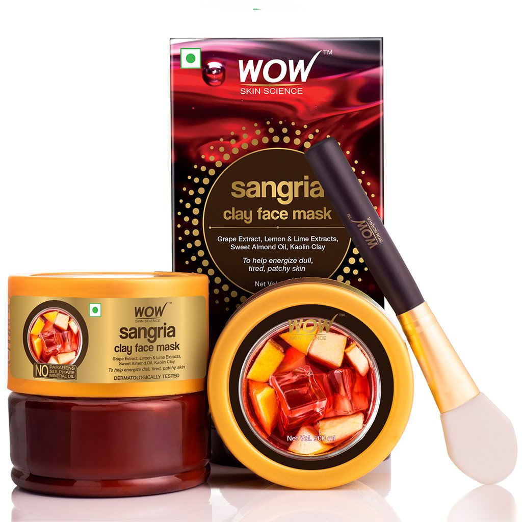Wow Sangria Face Mask for Energizing Dull, Tired, Patchy Skin