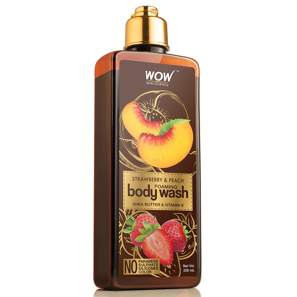 Wow Strawberry & Peach Foaming Body Wash