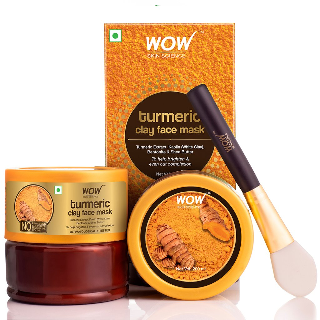 Wow Turmeric Clay Face Mask for Helping To Brighten & Even Out Complexion