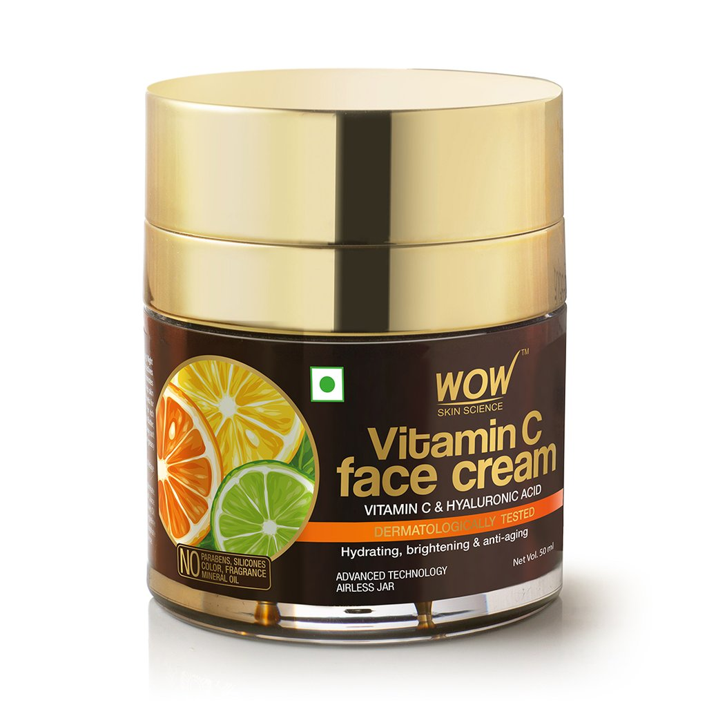 Wow Vitamin C Face Cream, Oil Free, Quick Absorbing