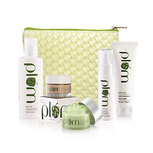 Plum Goodness Daily & Weekly Green Tea Kit + Free Bag