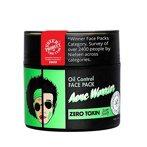 Super Smelly 100% Natural & Toxin Free Acne Warrior Oil Control Face Pack, 70g
