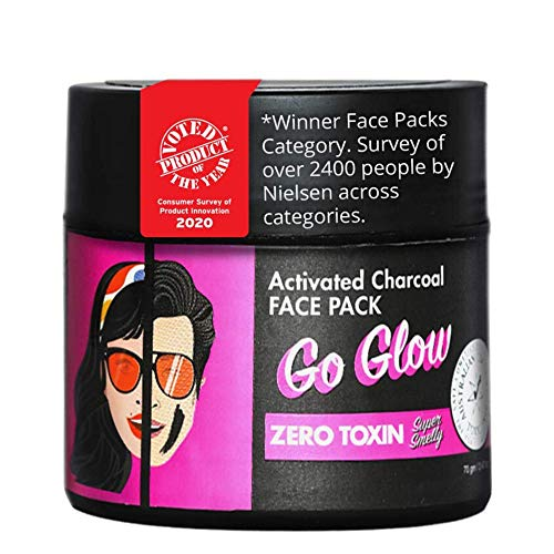 Super Smelly 100% Natural & Toxin Free Go Glow Activated Charcoal Face Pack, 70g