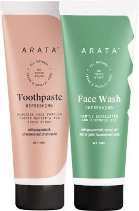 Arata Face wash & Toothpaste Combo
