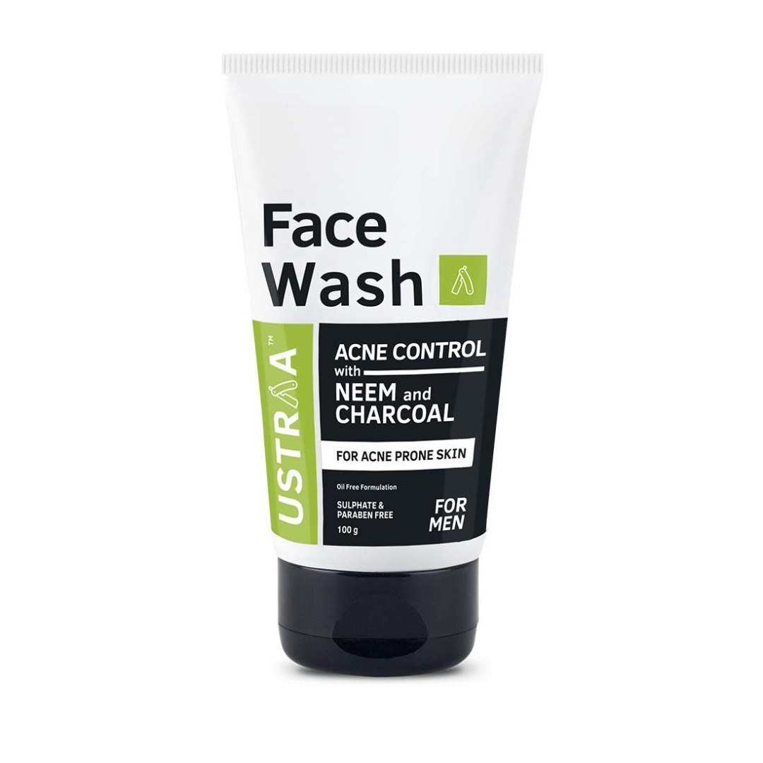 Ustraa Face Wash Acne Control With Neem & Charcoal