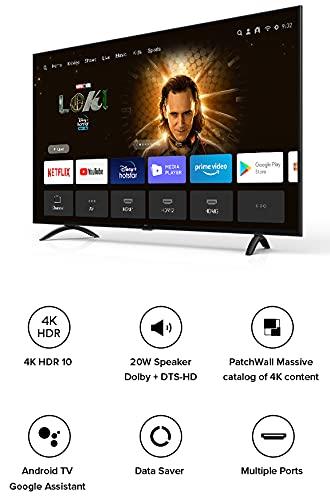 Mi 108 cm (43 Inches) 4K Ultra HD Android Smart LED TV 4X L43M4-4AIN (Black)