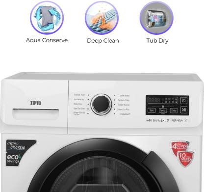 IFB 7 Kg 5 Star Fully-Automatic Front Loading Washing Machine (In-Built Heater) - Neo Diva Bx