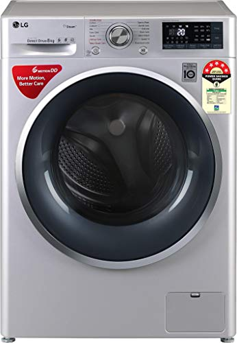 LG 8 Kg 5 Star Inverter Wi-Fi Fully-Automatic Front Loading Washing Machine (Steam) - Fht1408Zwl
