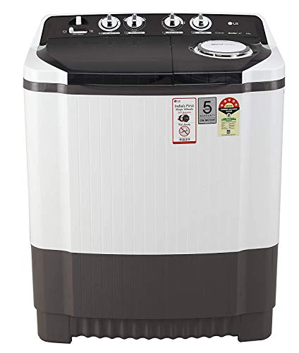 LG 8 Kg 5 Star Semi-Automatic Top Loading Washing Machine (Collar Scrubber) - P8035Sgmz