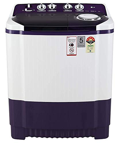 LG 8 Kg 5 Star Semi-Automatic Top Loading Washing Machine (Collar Scrubber) - P8035Spmz