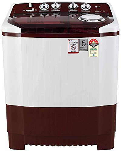 LG 8 Kg 5 Star Semi-Automatic Top Loading Washing Machine (Collar Scrubber) - P8035Srmz