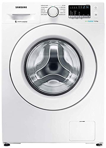 Samsung 8 Kg Inverter Fully-Automatic Front Loading Washing Machine (In-Built Heater, Eco Bubble) - Ww80J4243Mw/Tl