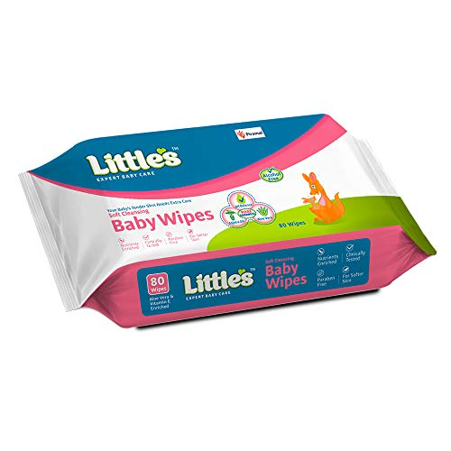 Littles Soft Cleansing Baby Wipes - 80 Wipes
