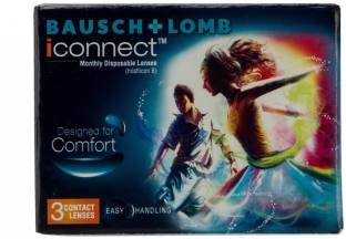 Bausch & Lomb iconnect Monthly Contact Lens (-2.5, Transparent, Pack of 3)
