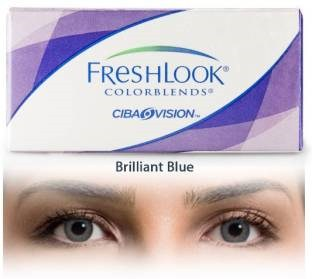 Ciba Vision Freshlook Colorblends Monthly Contact Lens (Brilliant Blue, Pack Of 2)