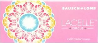Bausch & Lomb Lacelle Circle Monthly Contact Lens (Blue, Pack Of 2)
