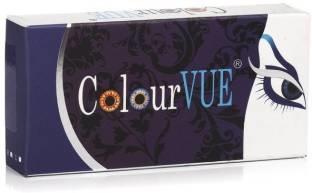 Colourvue 3 Tone Quarterly Contact Lens (0, Violet, Pack of 2)