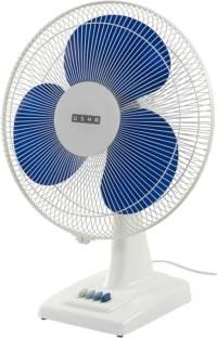 Usha Mistair & White Table Fan (Blue)