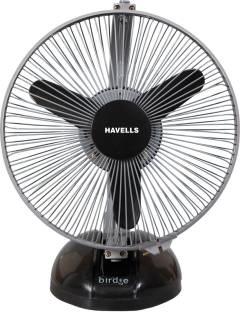 Havells Birdie Personal Mr Fan 230 mm Table Fan (Black Grey)