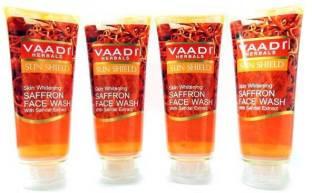 Vaadi Herbals Skin Whitening Saffron Face Wash 60ml X 4 Face Wash 60ml