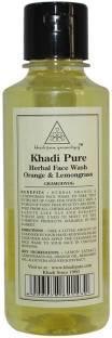 Khadi Pure Herbal Orange and Lemongrass Face Wash 210ml