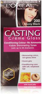 Loreal Paris Casting Creme Gloss Hair Color- Ebony Black 200