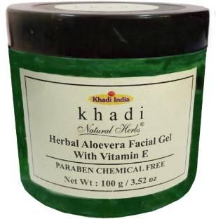 Khadi Herbal Aloevera Facial Gel For Unisex, 100 ML