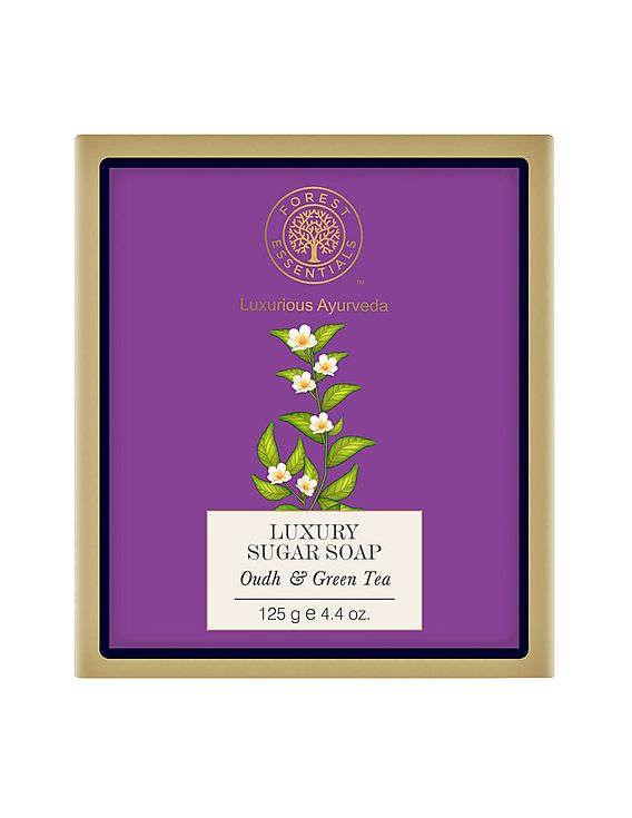 Forest Essentials Oudh & Green Tea Sugar Soap 125 GM