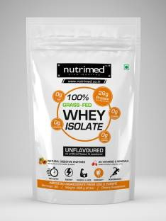 Nutrimed Grass-fed Whey Isolate with Enzymes, Multivitamins (907gm / 2lbs, Unflavoured)