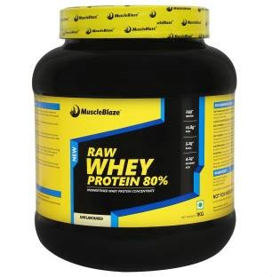 MuscleBlaze Raw Whey Protein (1Kg, Unflavoured)