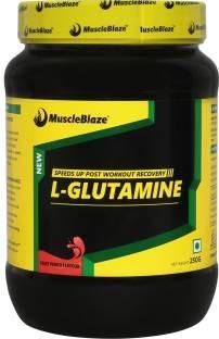 MuscleBlaze Micronized Glutamine (0.55lbs, Fruit Punch)