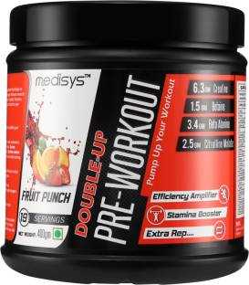 Medisys Double Up Pre Workout Powder (400gm, Fruit Punch)
