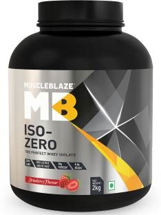 MuscleBlaze Zero Carb Iso-Zero Pure Whey Isolate Whey Protein (2Kg, Strawberry)