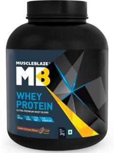 MuscleBlaze Whey Protein 60 Servings (2Kg, Cookies & Cream)