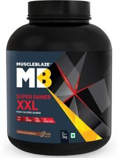 MuscleBlaze Super Gainer XXL High Calorie Gainers (3Kg, Cookies & Cream)
