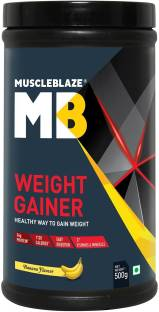 MuscleBlaze Weight Gainer with Added Digezyme, 500 GM/1.1 LB Banana