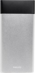 Philips DLP10006 Lithium Polymer Power Bank, 10000 mAh (Silver)