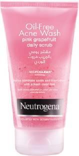 Neutrogena Oil Free Acne Wash Pink Grapefruit Daily Scrub 150ml