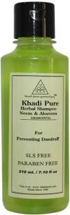 Khadi Pure Herbal Neem and Aloevera SLS and Paraben Free Shampoo 210ml