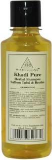 Khadi Pure Herbal Saffron Tulsi and Reetha Shampoo 210ml