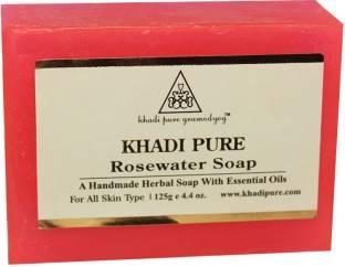 Khadi Pure Herbal Rose Water Soap 125 GM