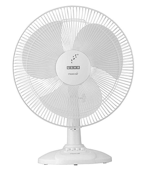 Usha Max Air Table Fan 3 Blade White