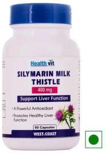 Healthvit Silymarin Milk Thistle 400 mg Supplements (60 Capsules)