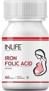 Inlife Iron Folic Acid Prenatal Health Care Supplement (60 Capsules)