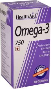 Health Aid Omega-3 750mg Supplements (60 Capsules)
