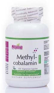 Zenith Nutrition Methylcobalamin Supplements (100 Capsules)